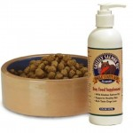 Salmon Oil with dog food