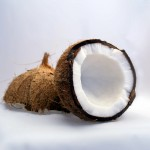 coconut cut in half