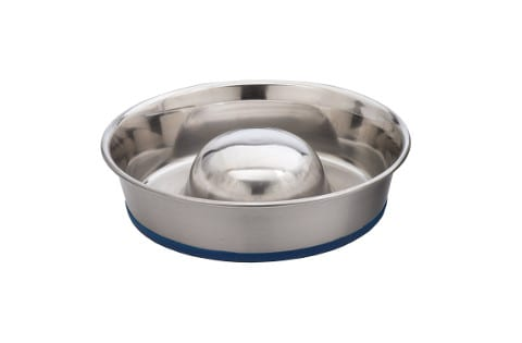 OurPets DuraPet Stainless Steel Slow Feed Bowl