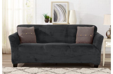 Great Bay Home Velvet Plush Slipcover