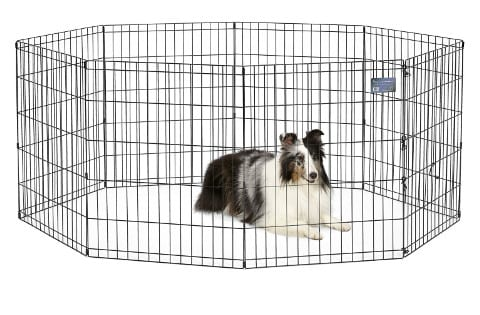 MidWest Foldable Metal Portable Dog Fence
