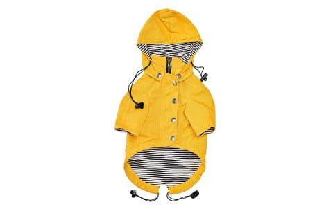Ellie Dog Wear Yellow Zip Up Dog Raincoat