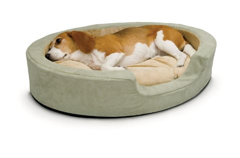 K&H Pet Products Snuggly Sleeper heated dog bed