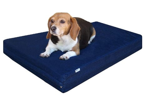 Dogbed4less Gel Memory Foam Dog Bed with Waterproof Liner