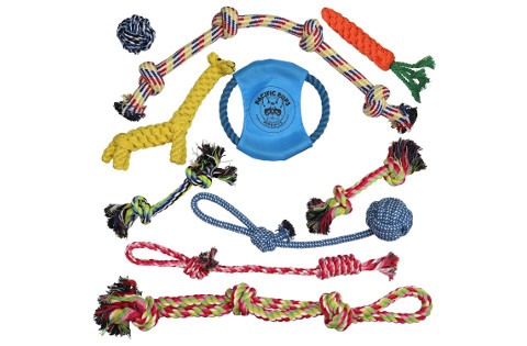 Pacific Pups Products Dog Rope Toy Set