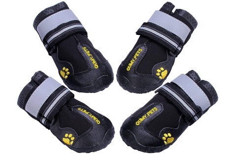 Qumy Waterproof Dog Boots with Velcro