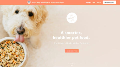The Farmer's Dog homepage